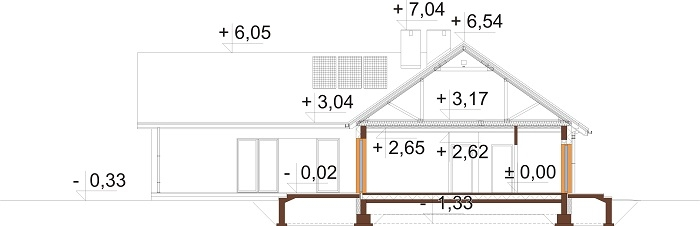 Projekt domu L-6759 - przekrój
