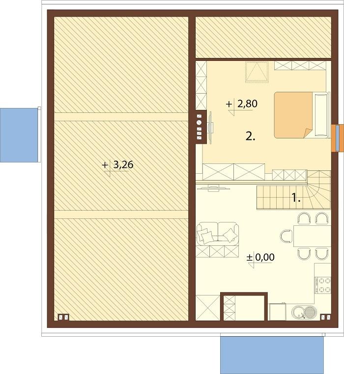 Projekt domu DM-6757 - rzut