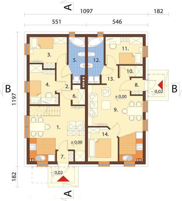 Projekt domu L-6757 - rzut
