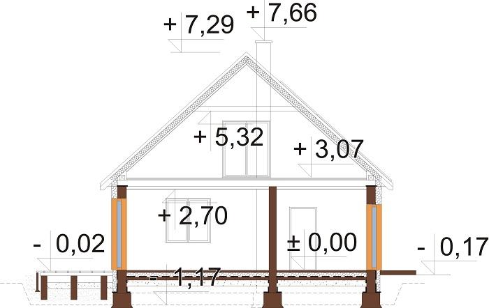 Projekt domu DM-6777 - przekrój
