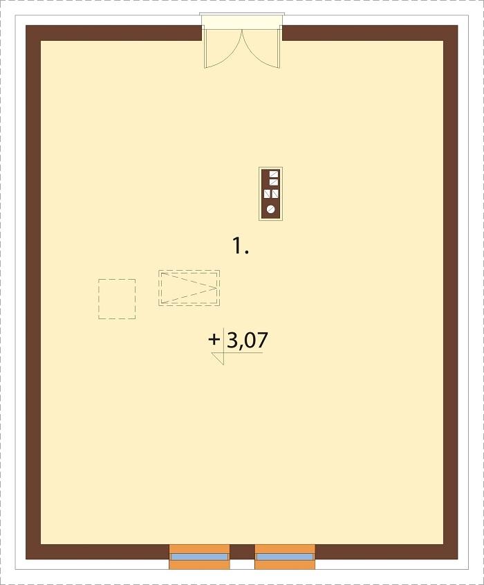 Projekt domu DM-6777 - rzut