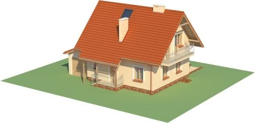 Projekt domu L-6190 B - model