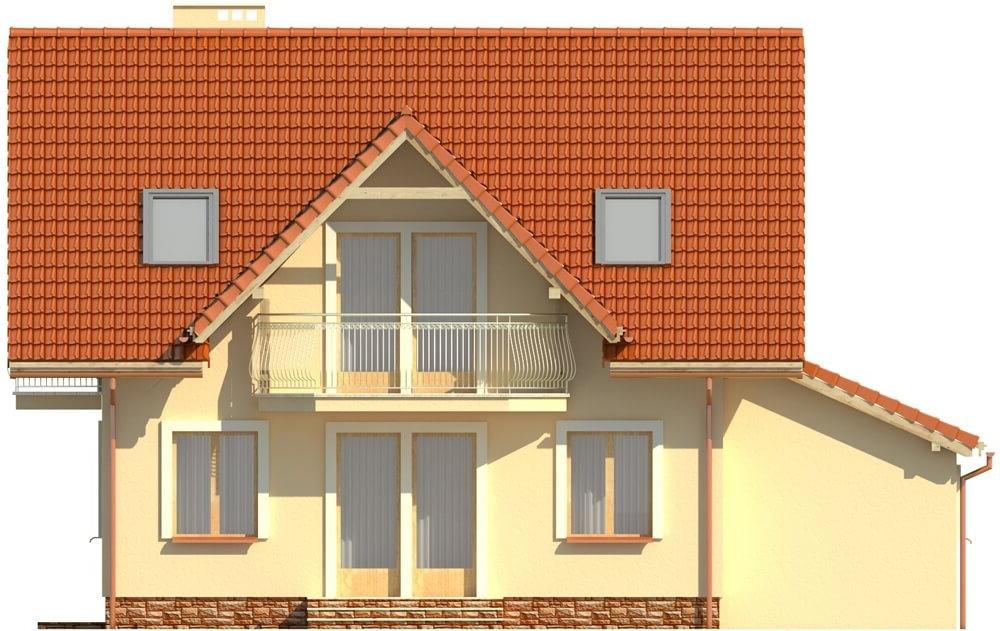 Projekt domu L-6190 B - elewacja