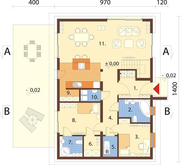 Projekt domu DM-6776 - rzut