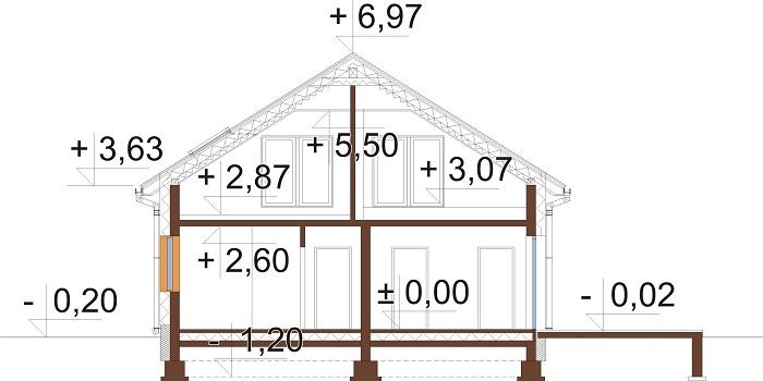 Projekt domu DM-6776 - przekrój