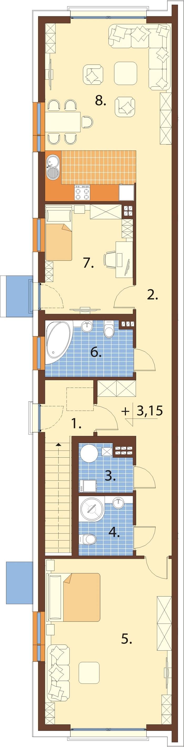 Projekt domu L-6770 - rzut