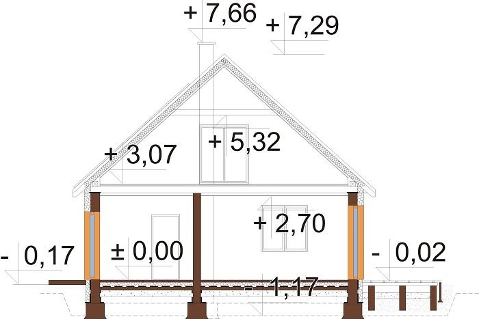 Projekt domu L-6777 - przekrój