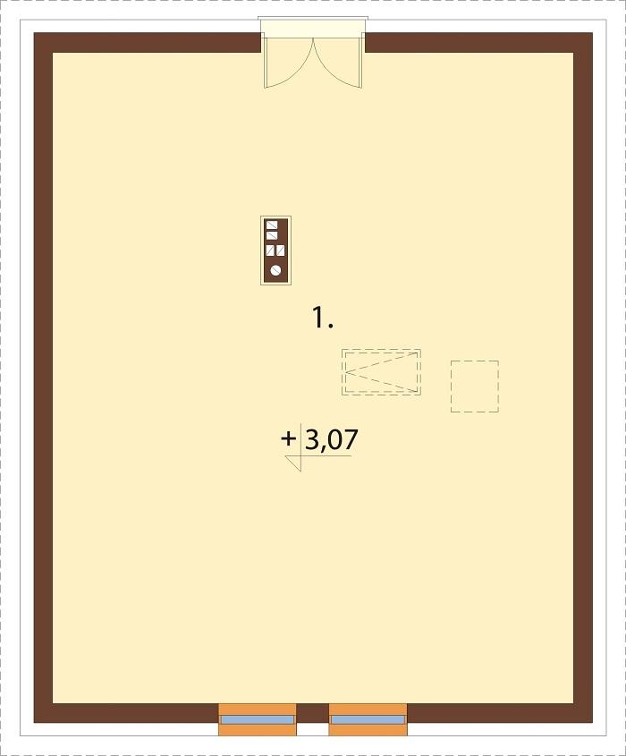 Projekt domu L-6777 - rzut