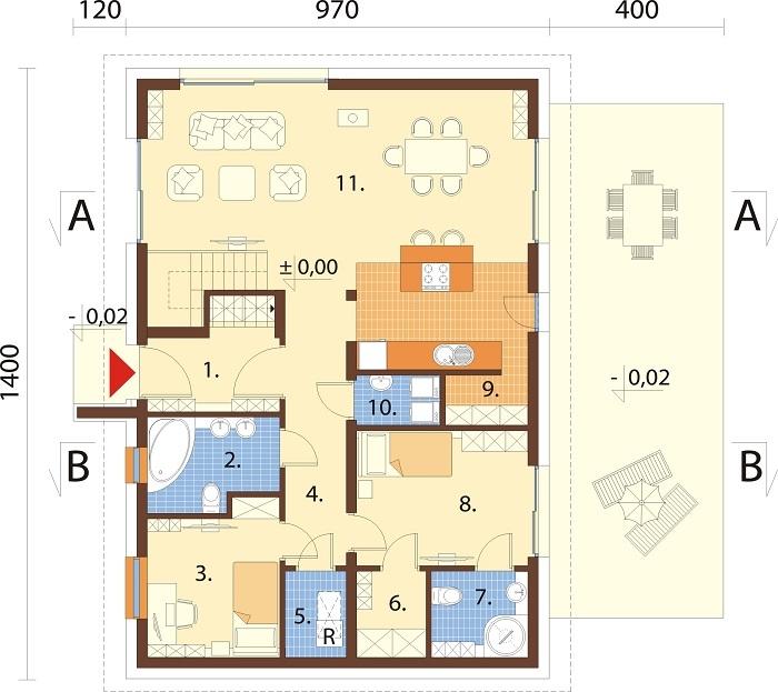 Projekt domu L-6776 - rzut
