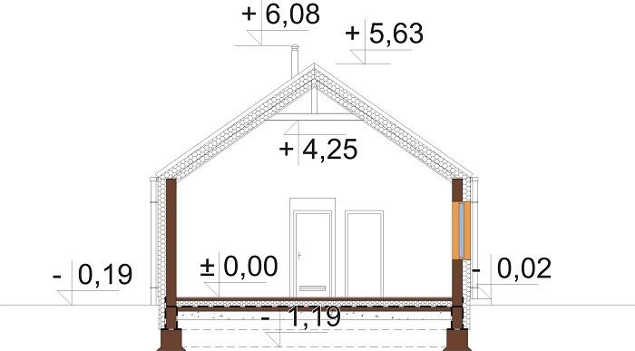 Projekt domu DM-6762 - przekrój