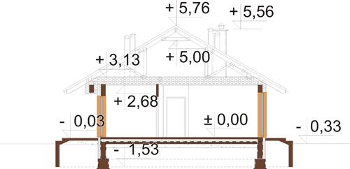 Projekt domu L-6616 G - przekrój