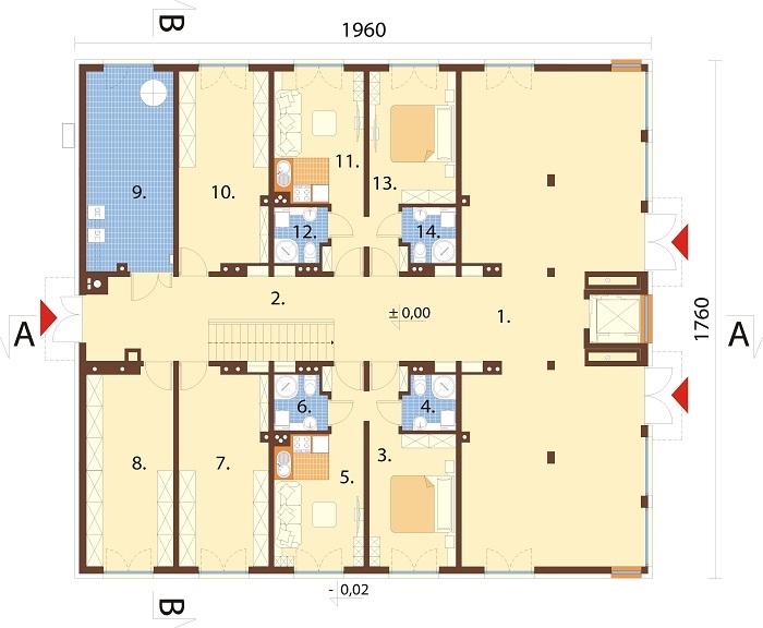 Projekt domu DM-6763 - rzut