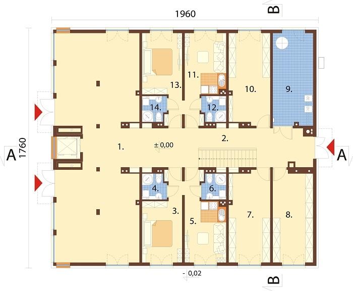 Projekt domu L-6763 - rzut