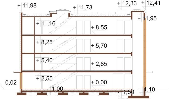 Projekt domu L-6763 - przekrój