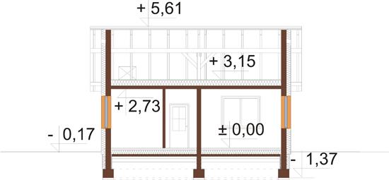 Projekt domu L-5516 - przekrój
