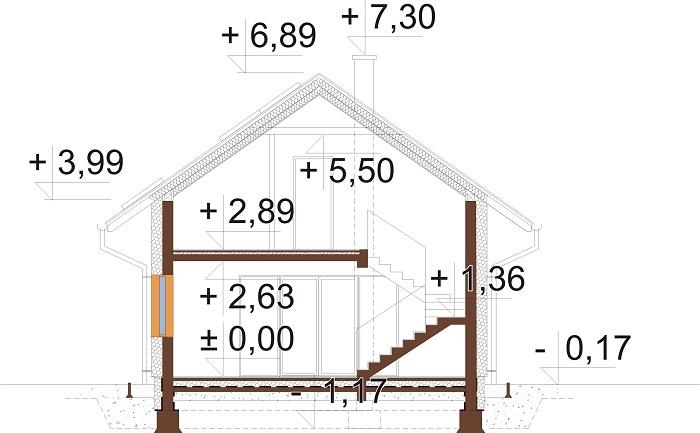 Projekt domu DM-6766 - przekrój