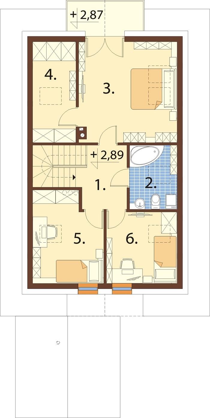 Projekt domu L-6766 - rzut