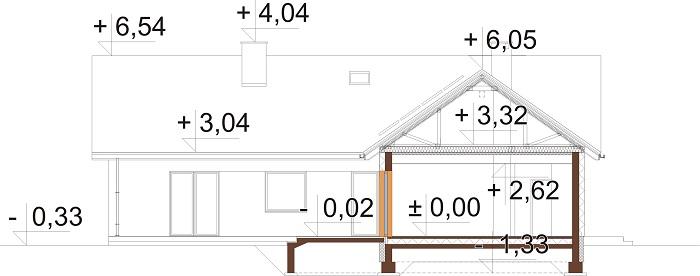 Projekt domu DM-6759B - przekrój