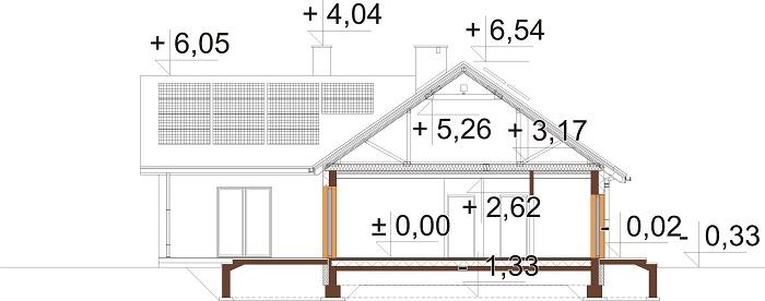 Projekt domu L-6759B - przekrój