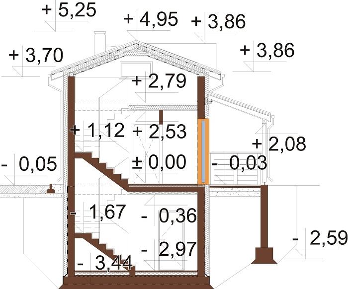 Projekt domu DM-6783 - przekrój