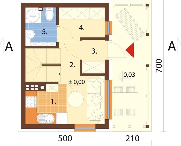 Projekt domu DM-6783 - rzut