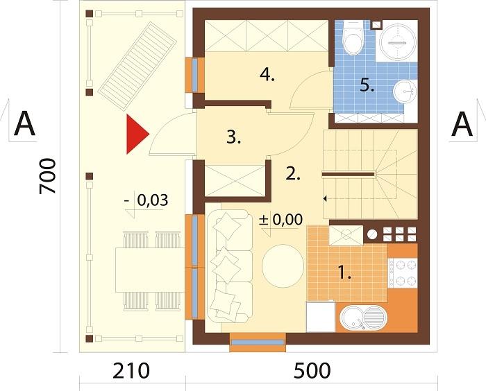 Projekt domu L-6783 - rzut