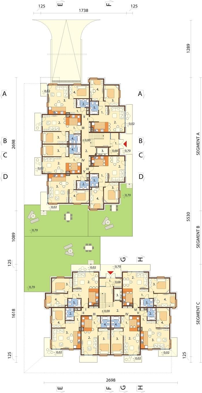 Projekt domu DM-6761 - rzut