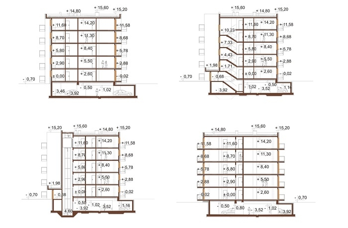 Projekt domu DM-6761 - przekrój
