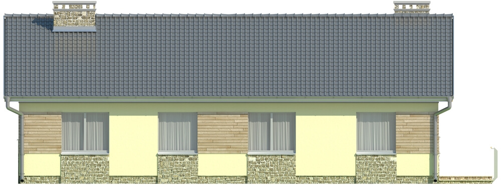 Projekt domu L-5518 - elewacja