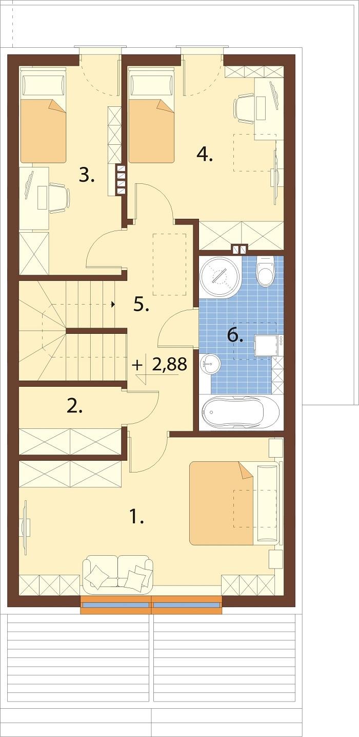 Projekt domu DM-6781 - rzut