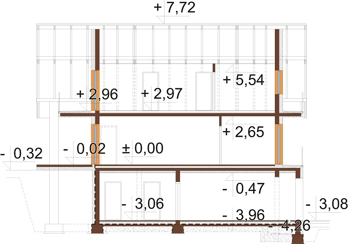 Projekt domu DM-6764 - przekrój
