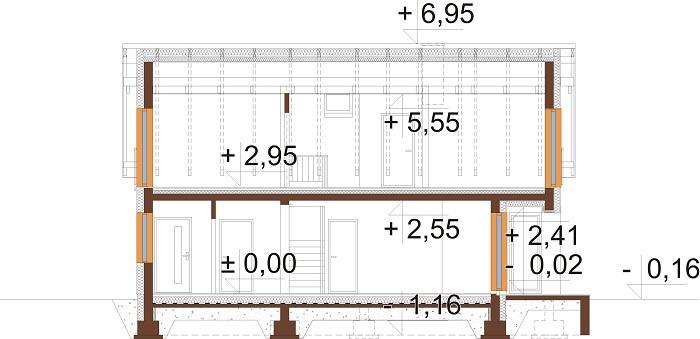 Projekt domu DM-6782 - przekrój