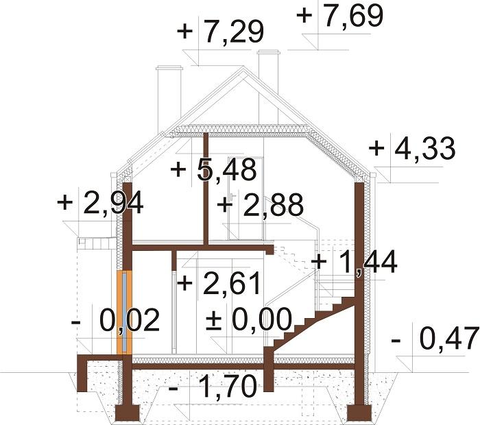 Projekt domu L-6781 - przekrój