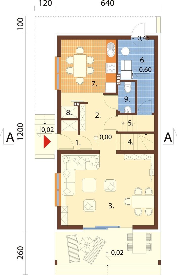 Projekt domu L-6781 - rzut
