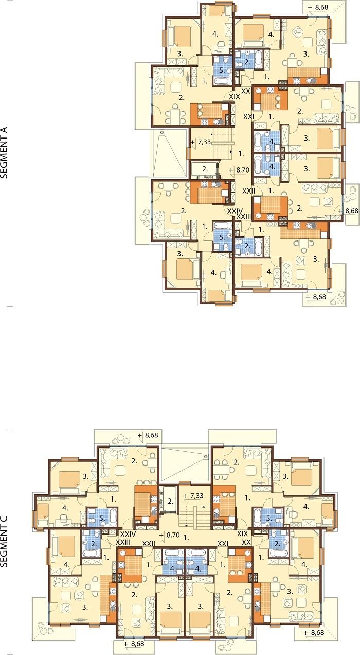 Projekt domu L-6761 - rzut