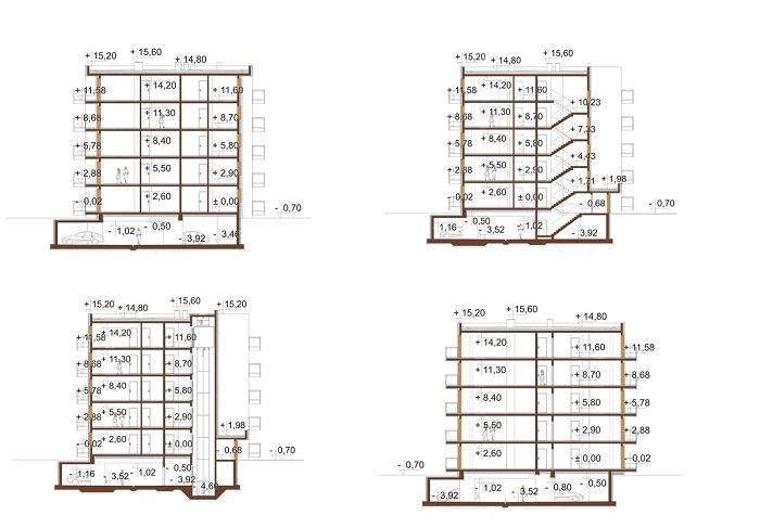 Projekt domu L-6761 - przekrój
