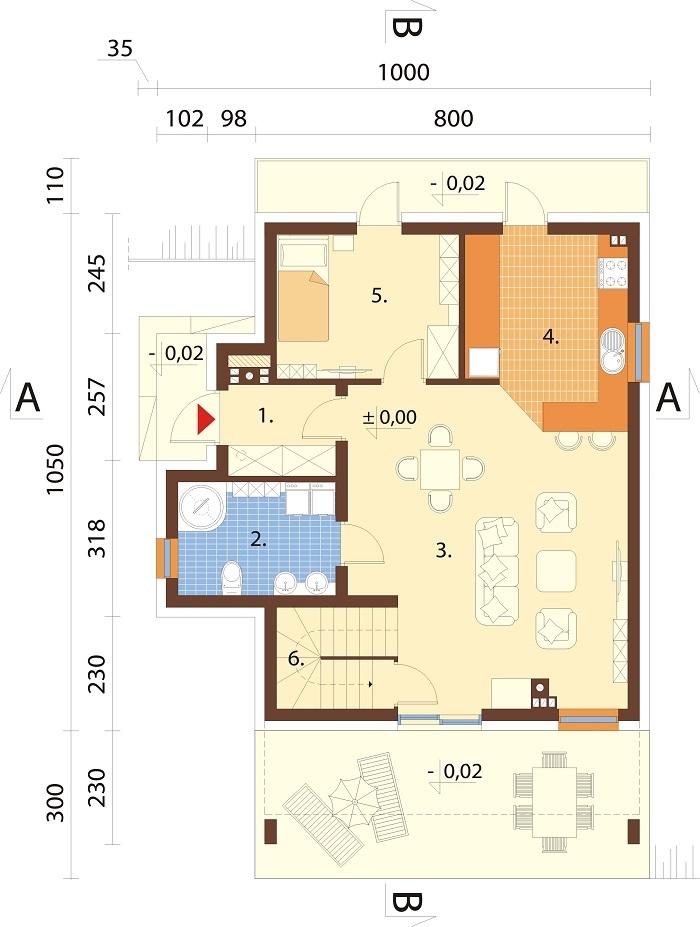 Projekt domu L-6764 - rzut