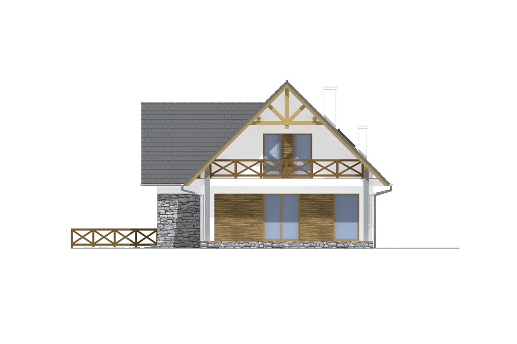 Projekt domu L-6764 - elewacja