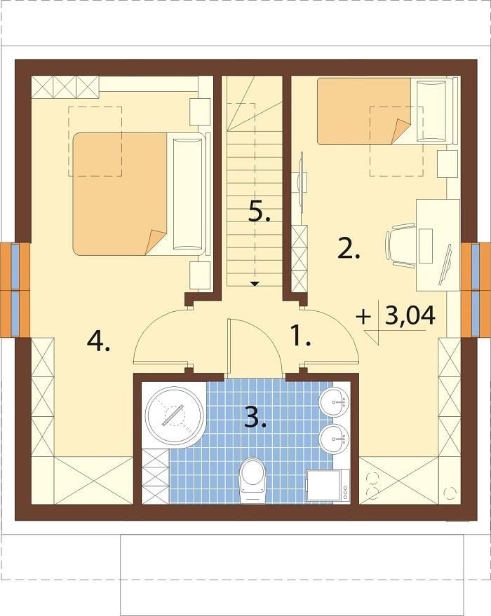 Projekt domu DM-6771 - rzut