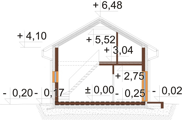Projekt domu DM-6771 - przekrój