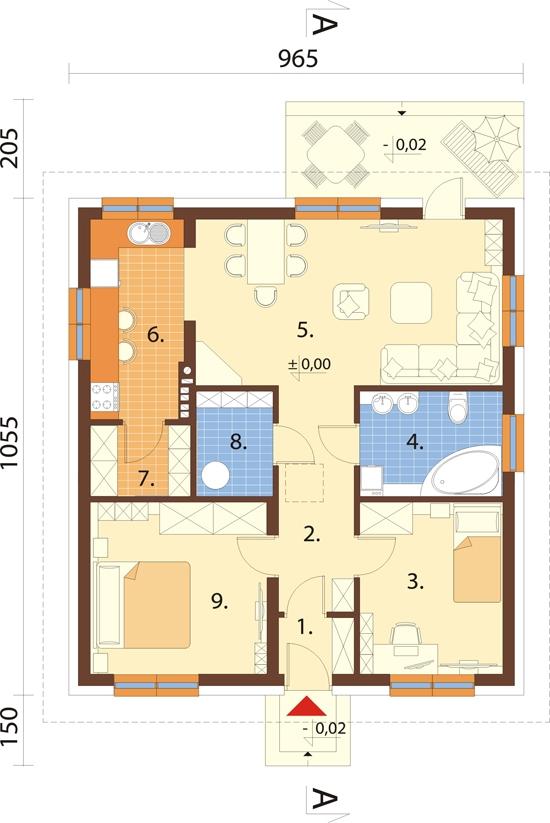 Projekt domu L-5519 - rzut