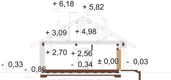Projekt domu L-6616 H - przekrój