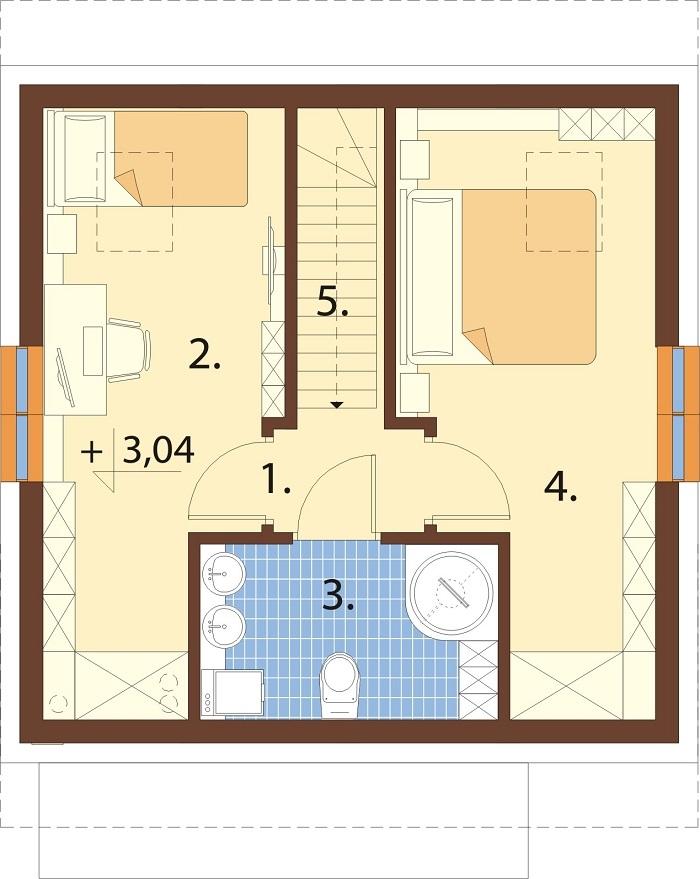 Projekt domu L-6771 - rzut