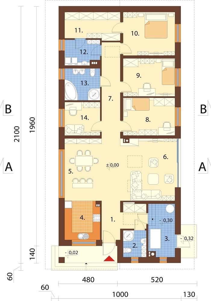 Projekt domu L-6779 - rzut