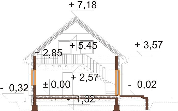Projekt domu DM-6785 - przekrój