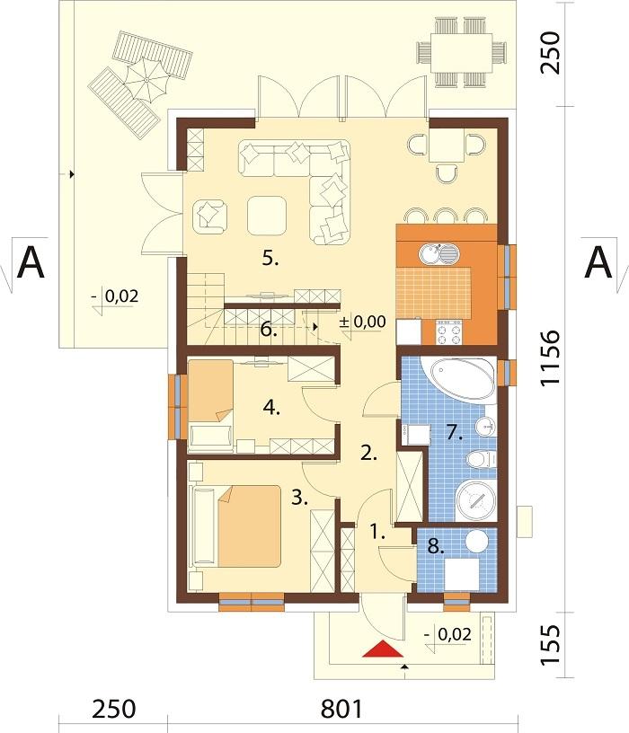 Projekt domu DM-6785 - rzut