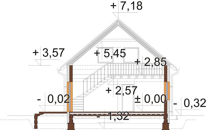 Projekt domu L-6785 - przekrój