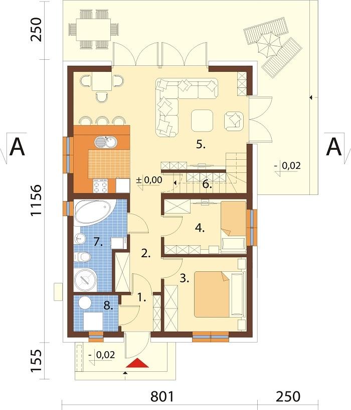 Projekt domu L-6785 - rzut