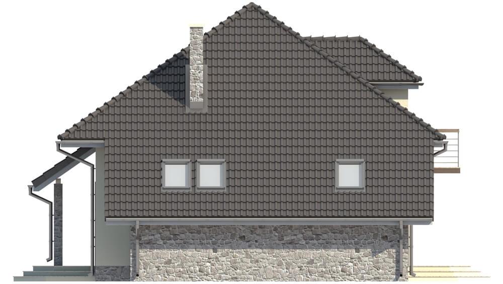 Projekt domu L-5521 - elewacja