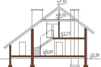 Projekt domu L-5521 - przekrój